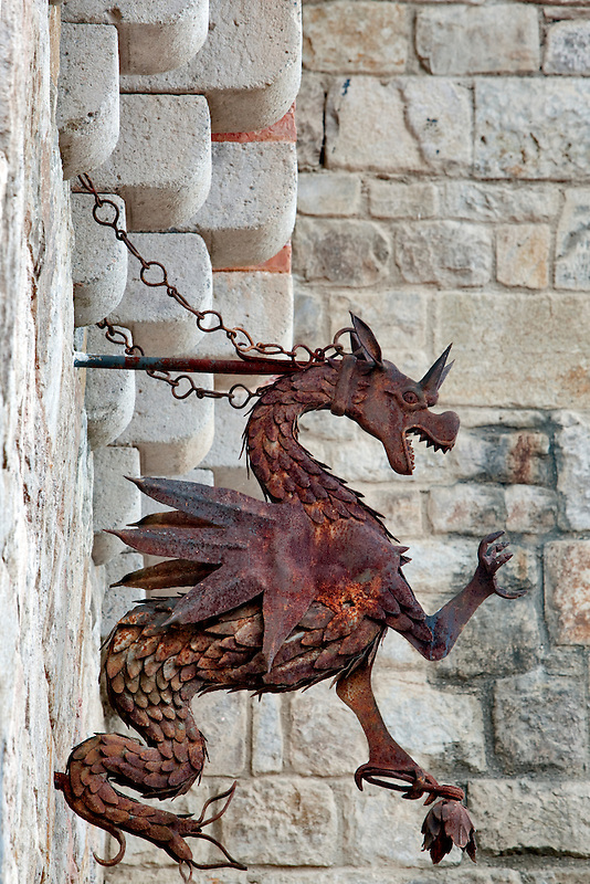 Iron Dragon at Castello di Amorosa. Napa Valley, California. Property relased