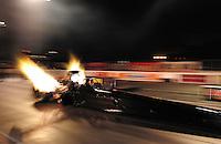 Jan. 18, 2012; Jupiter, FL, USA: NHRA top fuel dragster driver David Grubnic during testing at the PRO Winter Warmup at Palm Beach International Raceway. Mandatory Credit: Mark J. Rebilas-