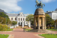 South Africa, Cape Town.  South African Museum.  In the foreground is the memorial to the 1916 World War I Battle of Delville Wood, France, where South African forces suffered tremendous losses.