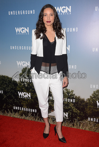 "08 January  - Pasadena, Ca - Jurnee Smollett-Bell. Arrivals for the WGN America Winter TCA Tour ""Underground"" held at The Langham Hotel. Photo Credit: Birdie Thompson/AdMedia"