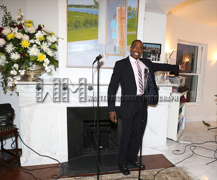 Michael McElroy performs at 'Parlor Night' A benefit evening for The Broadway Inspirational Voices Outreach Program at the home of Roy and Jenny Neiderhoffer on June 22, 2015 in New York City.