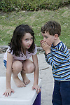 Berkeley CA Siblings ages five and seven sharing secret  MR
