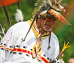 A Native American man dances at the 8th Annual Red Wing PowWow in Virginia Beach, Virginia.