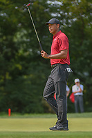 Tiger Woods (USA) after sinking his birdie putt on 9 during 4th round of the 100th PGA Championship at Bellerive Country Club, St. Louis, Missouri. 8/12/2018.<br /> Picture: Golffile | Ken Murray<br /> <br /> All photo usage must carry mandatory copyright credit (&copy; Golffile | Ken Murray)
