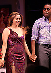 Alicia Silverstone & Daniel Breaker during the Broadway Opening Night Performance Curtain Call for 'The Performers' at the Longacre Theatre in New York City on 11/14/2012