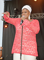 LOS ANGELES, CA -JULY 23: Singer Jane Eugene of Loose Ends performs at the 1st Annual Los Angeles Soul Music Festival at the Autry in Griffith Park on July 23, 2016 in Los  Angeles, California. Credit: Koi Sojer/Snap'N U Photos/MediaPunch