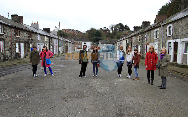 """Orla Reilly, Grainne Rafferty, Katie Goldsmith, Sophie Flanagan, Katie Reilly, Lorna Kettle, Jenny Thompson and Anne Nolan of Upstate Theatre Project who are preparing for """"Ship Street Revisited""""...(Photo credit should read Jenny Matthews www.newsfile.ie)...."""