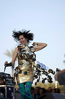 COACHELLA,CA - APRIL19,2009: Yeah Yeah Yeahs lead singer Karen O at Coachella Valley Music and Arts Festival Sunday, April 19, 2009. 147720.CA.0419.coachella