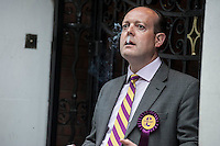 UKIP supporters arrive for London rally. 7-5-14