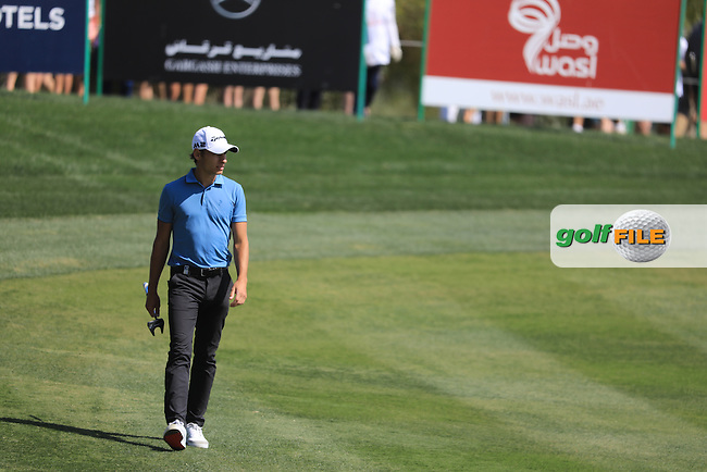 Joakim Lagergren (SWE) on the 9th during the final round of the Omega Dubai Desert Classic, Emirates Golf Club, Dubai,  United Arab Emirates. 05/02/2017<br /> Picture: Golffile | Fran Caffrey<br /> <br /> <br /> All photo usage must carry mandatory copyright credit (&copy; Golffile | Fran Caffrey)