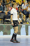 Berlin, Germany, February 10: During the FIH Indoor Hockey World Cup quarterfinal match between Germany (black) and Poland (red) on February 10, 2018 at Max-Schmeling-Halle in Berlin, Germany. Final score 3-1. (Photo by Dirk Markgraf / www.265-images.com) *** Local caption ***