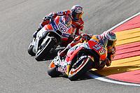 Aragon 24-09-2017 Moto Gp Spain photo Luca Gambuti/Image Sport/Insidefoto <br /> nella foto: Marc Marquez-Andrea Dovizioso
