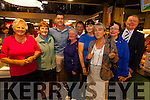 Pictured  at Fitzpatricks Spar Express new look flagship store in Cahersiveen on Friday were l-r; Mary Daly, Nora Moriarty, Ryan Andrews(Fair City), Mary Green, Mary Foley, Josephine Clifford, Josephine Byrne, Margie Kelly & Jack Fitzpatrick.