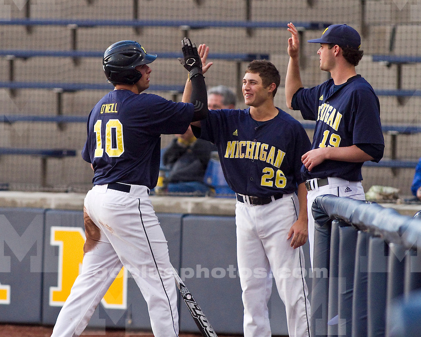 The University of Michigan men's baseball team beat Coastal Carolina, 5-2, at the Wilpon Baseball Complex in Ann Arbor, Mich., on May 9,2012.