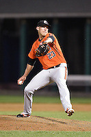 Aberdeen IronBirds pitcher Derrick Bleeker (23) delivers a pitch during a game against the Williamsport Crosscutters on August 4, 2014 at Bowman Field in Williamsport, Pennsylvania.  Aberdeen defeated Williamsport 6-3.  (Mike Janes/Four Seam Images)
