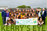 Austin Stacks the Comórtas Peil John Egan Division 1 Champions celebrate after defeating ClareGalway (Galway) in the final at Fitzgerald Stadium on Saturday