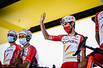 Guillaume Martin (FRA) Cofidis at sign on before the start of Stage 8 of Tour de France 2020, running 141km from Cazeres-sur-Garonne to Loudenvielle, France. 5th September 2020.<br /> Picture: ASO/Pauline Ballet | Cyclefile<br /> All photos usage must carry mandatory copyright credit (© Cyclefile | ASO/Pauline Ballet)