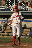 July 10, 2005:  Outfielder Jeremy Slayden of the Batavia Muckdogs during a game at Dwyer Stadium in Batavia, NY.  The Muckdogs are the Short Season Class-A affiliate of the Philadelphia Phillies.  Photo By Mike Janes/Four Seam Images