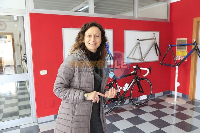 Barbara gives me a guided tour of the Tommasini factory based in Grosseto, Tuscany, Italy 6th March 2017.<br /> Picture: Eoin Clarke | Newsfile<br /> <br /> <br /> All photos usage must carry mandatory copyright credit (© Newsfile | Eoin Clarke)