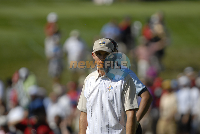 European Team member Padraig Harrington on the 13th green during Practice Day1 of the 37th Ryder Cup at Valhalla Golf Club, Louisville, Kentucky, USA, 17th September 2008 (Photo by Eoin Clarke/GOLFFILE)