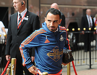 Leon Britton of Swansea City arrives at the Stadium of Light during the Barclays Premier League match between Sunderland and Swansea City played at Stadium of Light, Sunderland