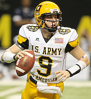 West quarterback Jake Heaps looks to pass during the first half of the U.S. Army All-American Bowl, Saturday, Jan. 9, 2010, at the Alamodome in San Antonio. (Darren Abate/pressphotointl.com)