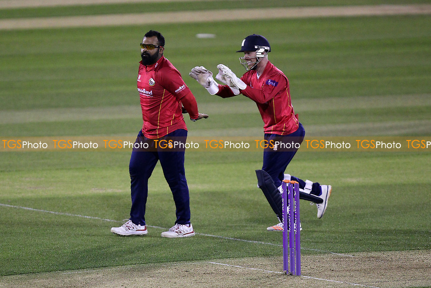 Ashar Zaidi of Essex celebrates taking the wicket of David Wiese during Essex Eagles vs Sussex Sharks, Royal London One-Day Cup Cricket at The Cloudfm County Ground on 10th May 2017