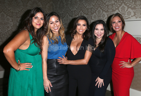 BEVERLY HILLS, CA - OCTOBER 12: ***HOUSE COVERAGE***  Angelique Cabral, Anjelah Johnson, Eva Longoria, Gloria Calderon Kellett and Alex Meneses at the Eva Longoria Foundation Gala at The Four Seasons Beverly Hills in Beverly Hills, California on October 12, 2017. Credit: Faye Sadou/MediaPunch