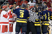 - The visiting Merrimack College Warriors tied the Boston University Terriers 1-1 on Friday, November 12, 2010, at Agganis Arena in Boston, Massachusetts.
