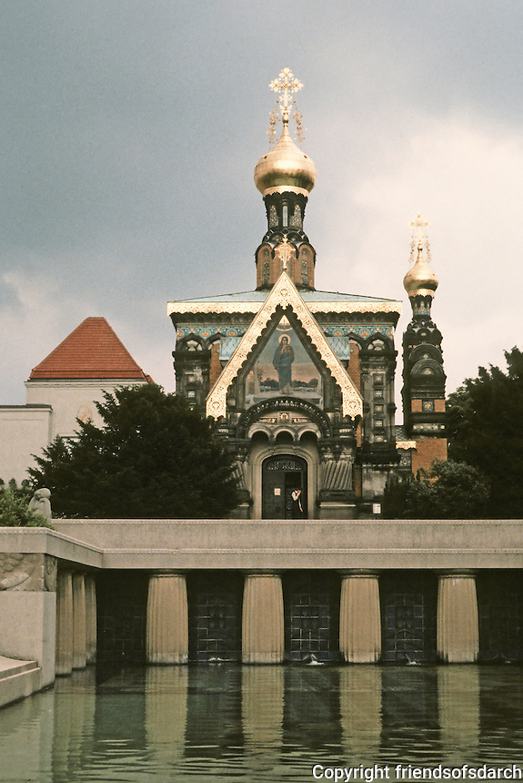 Josef Maria Olbrich: Russian Chapel, Mathildenhohe.