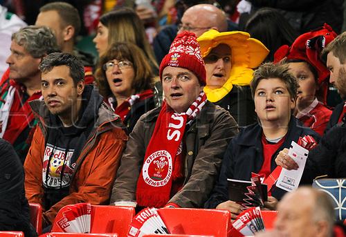 11th November 2017, Principality Stadium, Cardiff, Wales; Autumn International Series, Wales versus Australia; Wales fans enjoy the atmosphere before kick off