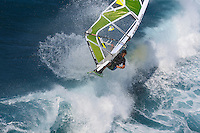 Florian Jung (GER) windsurfing in Maui, Hawaii, USA