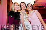 Pamela Browne, Eliza Brennan and Elaine Granville (all from Kenmare) enjoying the KFW Irish Fashion Industry Awards at the Europe Hotel, Killarney on Friday night last.