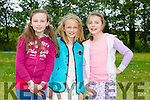 Caoimhe Giles, Ella Hussey and Catherine Flynn at the St Josephs NS anniversary celebration  family fun day on Sunday