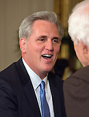 United States House Majority Leader Kevin McCarthy (Republican of California) prior to US President Donald J. Trump announcing Judge Neil Gorsuch as his nominee to be Associate Justice of the US Supreme Court to replace Justice Antonin Scalia in the East Room of the White House in Washington, DC on Tuesday, January 31, 2017.<br /> Credit: Ron Sachs / CNP