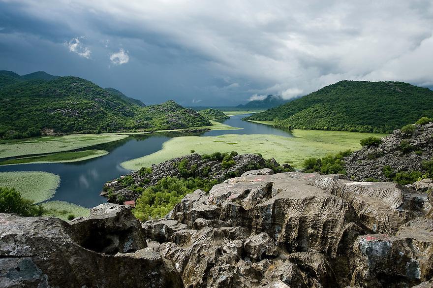 View from Karuc village at Lake Skadar National Park, Montenegro