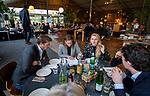 VOGELENZANG -  Pien Sanders, Laurien Leurink, Jeroen Bijl, Spelerslunch KNHB 2019.   COPYRIGHT KOEN SUYK