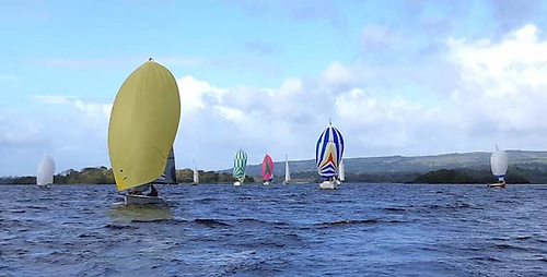 A 28-boat fleet raced for the Gortmore Bell on Lough Derg