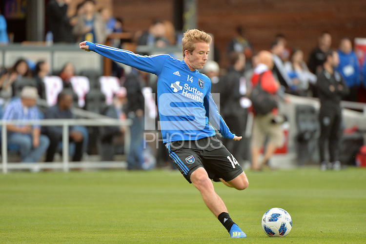 San Jose, CA - Saturday June 09, 2018: Jackson Yueill during a Major League Soccer (MLS) match between the San Jose Earthquakes and Los Angeles Football Club at Avaya Stadium.