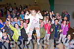 Norma Moriarty celebrates with her family and friends after being elected in the Killorglin Dingle Area on Sunday evening