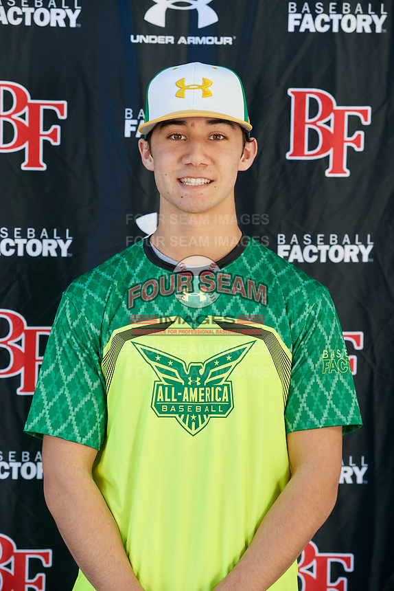 Dominic Giuffre during the Under Armour All-America Tournament powered by Baseball Factory on January 17, 2020 at Sloan Park in Mesa, Arizona.  (Mike Janes/Four Seam Images)