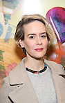 Sarah Paulson attends the press reception for the Opening Night of the Lincoln Center Theater Production of 'The Babylon Line'  at the Mitzi E. Newhouse Theatre on December 5, 2016 in New York City.