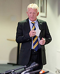 Gordon Strachan at Hampden to announce his Scotland squad