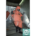 Members of the Tokyo Fire Department wearing gas masks and protective clothing enter Kodenmacho Subway Station in Chiyoda-ku, Tokyo on March 20th, 1995. At around 8.00am in the morning members of the Aum Shirikyo Doomsday Cult released poisonous Sarin Gas in five coordinated attacks on trains travelling through Kasumigaseki and Nagatacho stations. This resulted in the death of 13 passengers and staff and over 6,000 injuries and was Japan's deadliest act of domestic terrorism.  (Photo by Yomiuri Newspaper/AFLO)