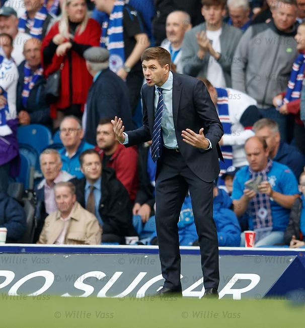 09.08.18 Rangers v Maribor: Steven Gerrard