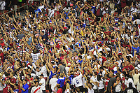 US fans goes wild after a score to tie the game. USA defeated Peru 2-1 during a Friendly Match at the RFK Stadium in Washington, D.C. on Friday, September 4, 2015.  Alan P. Santos/DC Sports Box