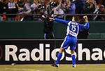 16 October 2004: Josh Wolff celebrates after his goal in the 23rd minute had given the Wizards a 1-0 lead. The Kansas City Wizards defeated the Los Angeles Galaxy 1-0 at Arrowhead Stadium in Kansas City, MO in a regular season Major League Soccer game..