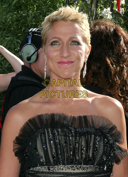 EDIE FALCO.6th Annual Prime Time Emmy Awards held at the Shrine Auditorium. .September 19th, 2004.headshot, portrait, strapless, ruffles, chiffon, dangling earrings.www.capitalpictures.com.sales@capitalpictures.com.©Don Shaffer/AdMedia/Capital Pictures.