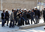 SULAIMANIYAH, IRAQ: A protester is detained by policemen...A second day of protests rocked the Kurdish Iraqi city of Sulaimaniyah.  Security forces used, batons, water canons, and live rounds.  At least 14 people were wounded...Photo by Haedar Omar