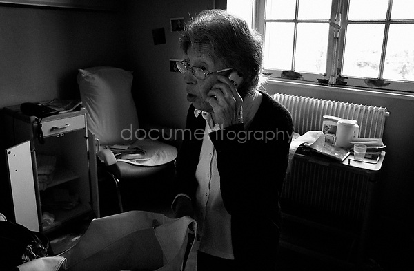 """I would like to see you Colette,? says my grandmother over the phone to one of her friends -Colette. Colette had been unable to visit my grandmother for the last seven months. With my grandmother now leaving the hospital, my mother hopes that more of her friends will be able to visit her...© Magali Corouge/Documentography.2004-2006.France."